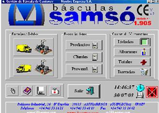 Software de medición | Básculas Samsó